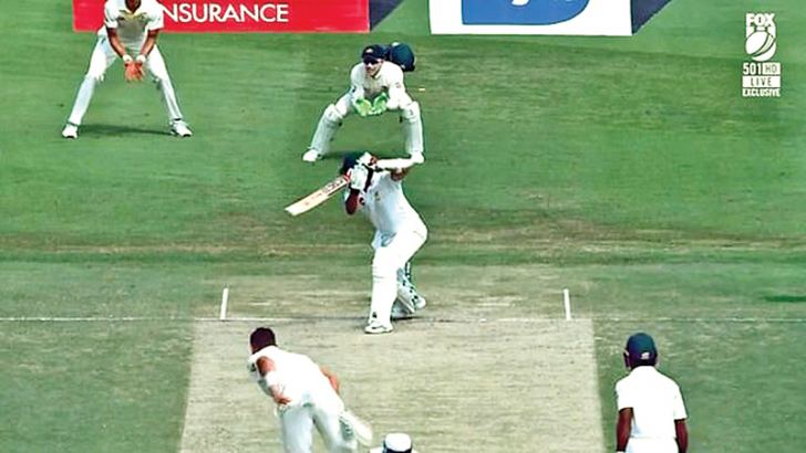 1. Azhar Ali edged a ball from Peter Siddle wide of gully and away towards third man