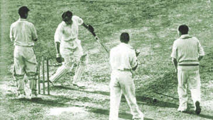 Don Bradman bowled for a duck in his final Test innings.
