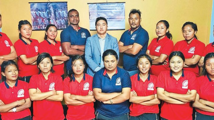 head coach Radhika Hettiarachchi with the Nepal womens team