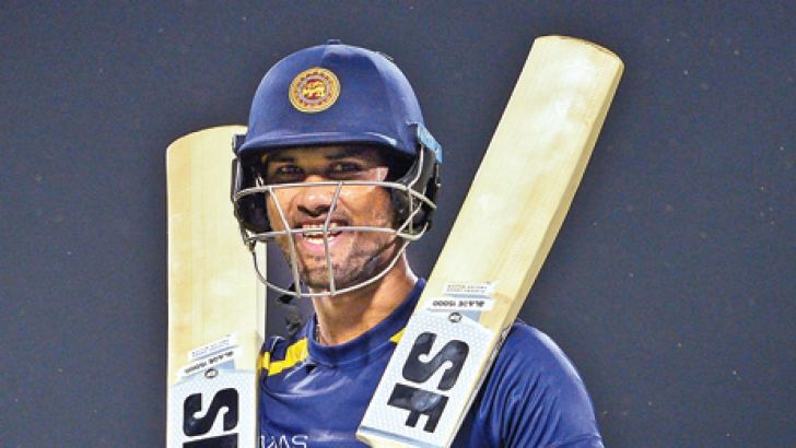 Sri Lanka captain Dinesh Chandimal waits for his turn to bat at the Pallekele International Stadium nets. Chandimal was cleared to play in today's fourth ODI after suffering from dizziness during the third ODI on Wednesday. - AFP