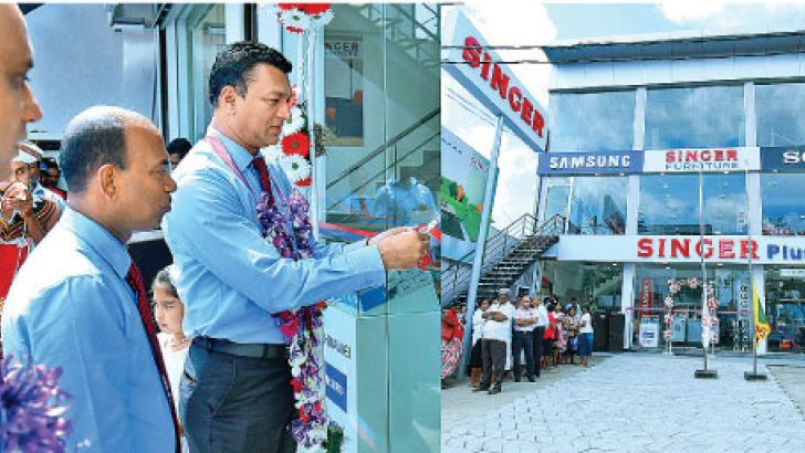 Hakmana Singer Plus showroom officials opens the relocated branch