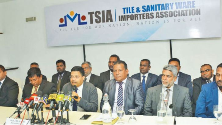An official of TSIA at the press conference yesterday. Picture by Sudath Malaweera