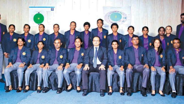 The Sri Lanka Women's cricket team for the World T20 tournament in West Indies