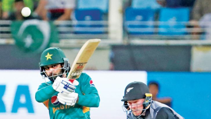 Record-breaker: Pakistan cricketer Babar Azam in action on Sunday. AFP