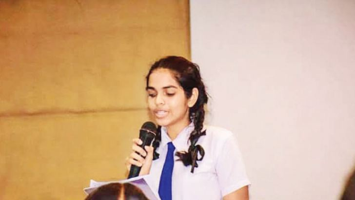 Taking part in the Royal College Samprapthi Debating Competition