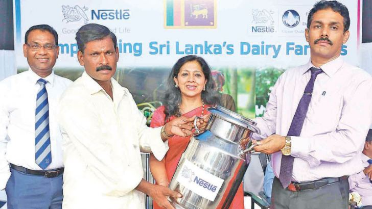 The Nestlé chilling centre was inaugurated by Sivabalan Kunabalan, Additional Government Agent for the Mannar District, and ShivaniHegde, Nestlé Managing Director, in the presence of Dr. Singarajar Vimalakumar, Deputy Director - Animal Production and Health, Balakrishnan Jayakaran, Divisional Secretariat - Madhu, Colonel Bandula Abeyrathne, 611 Brigade, Dr. K. Kirubakaran, Veterinary Surgeon - Madhu, Thomas Mueller,  Nestlé Senior Vice President - Technical, and Bandula Egodage, Nestlé Vice President - Corp