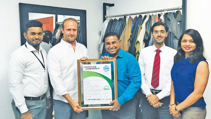 Gayan Anthony Accountant, LLF,  Marco Weidemann  Director, LLF; Sanith de S. Wijeyeratne  CEO, CCC; Sajeewa Ranasinghe Project Lead, Carbon and Energy Management, CCC; Ruwanthi Halwala  Project Lead, Client Relationship Management, CCC.