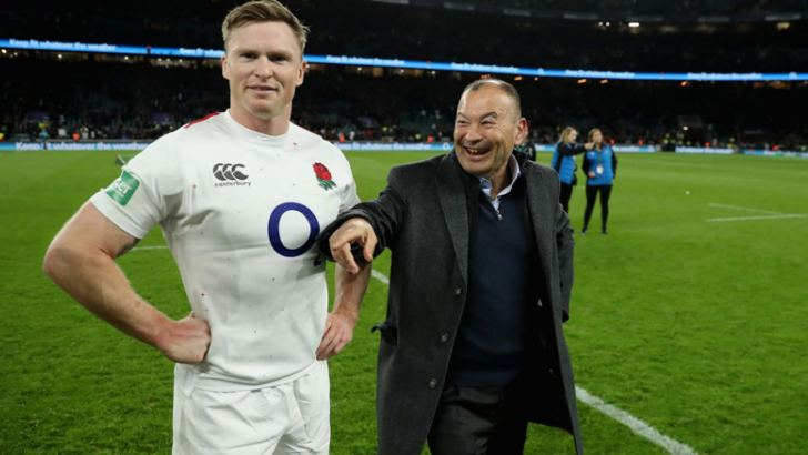 Chris Ashton (From Left), is back in the England starting XV and England coach, Eddie Jones.