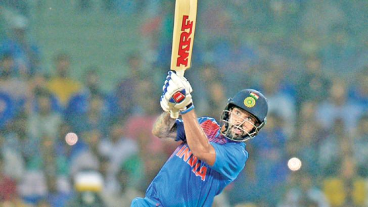 Shikhar Dhawan registered his first fifty of the series across formats as he batted with assurance, hitting 10 fours and two sixes during his 62-ball knock. AFP