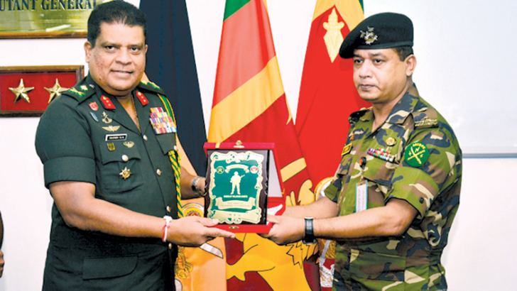 Major General Shavendra Silva with a foreign delegate.