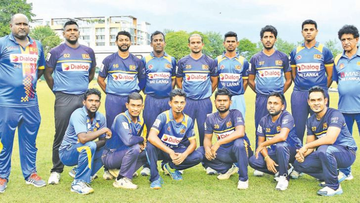 Sri Lanka team for the first Deaf T20 Cricket World Cup in India. Picture by Saman Mendis