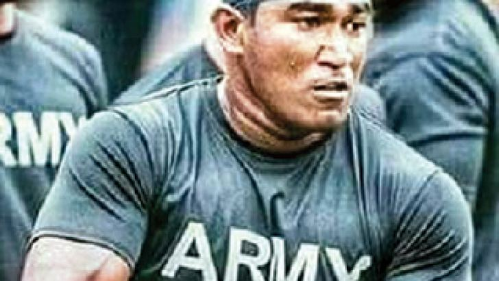 Imanka Ariyapala in action for Army Sports Club.