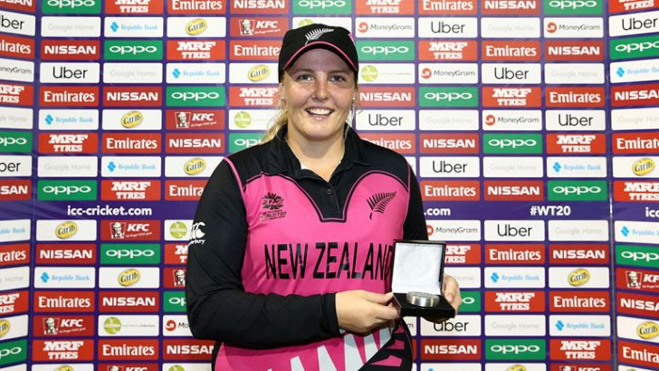 New Zealand Women's Jess Watkin Player of the Match.