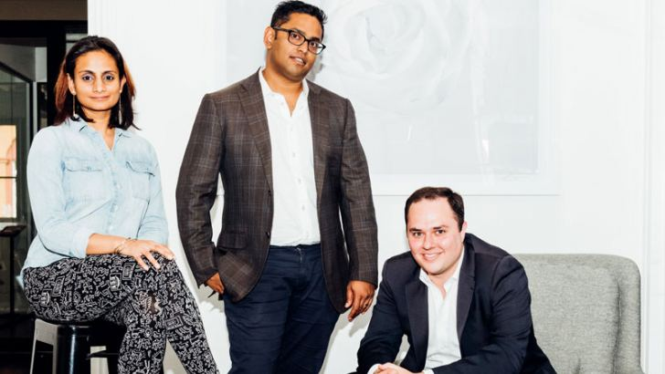 Ruwin Perera, Mina Radhakrishnan and Scott Dolce, Head of Growth at Different