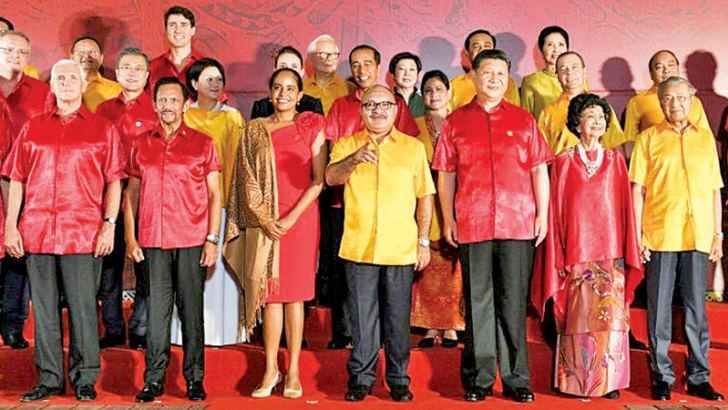 APEC leaders at the Papua New Guinea summit.