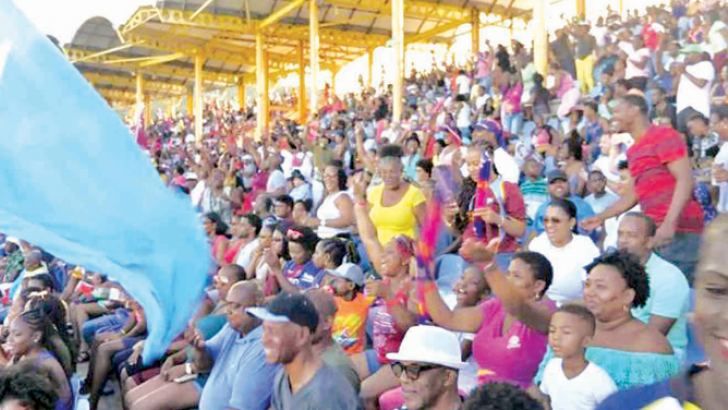 The Guyana National Stadium saw more than 3000 fans on the last day.