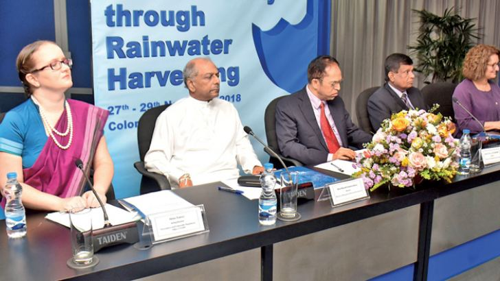 Minister Dinesh Gunawardena, Minister Dr. M.L.A.M. Hisbullah and other officials at the event. Picture by Gayan Pushpika
