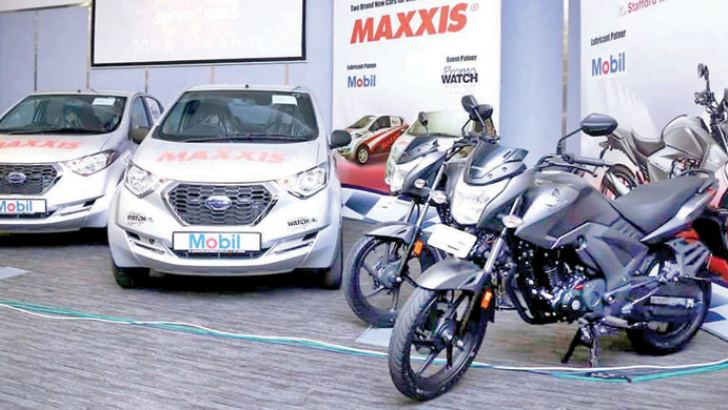 The brand new cars and motorbikes on offer fot the top prizes