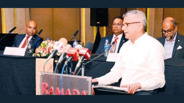 Ranjit Page, Chairman, Cargills Ceylon Plc addressing the AGM. Picture by Wimal Karunatillake