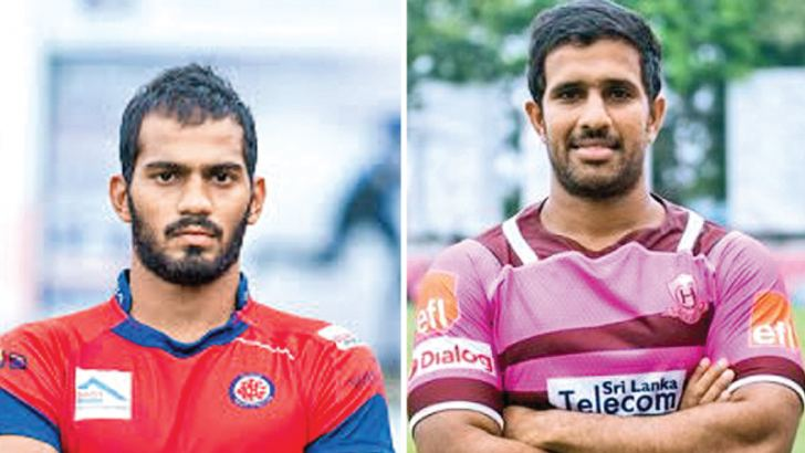 Kavindu Perera (CR and FC Captain) and Niroshan Fernando (Havelocks Captain)