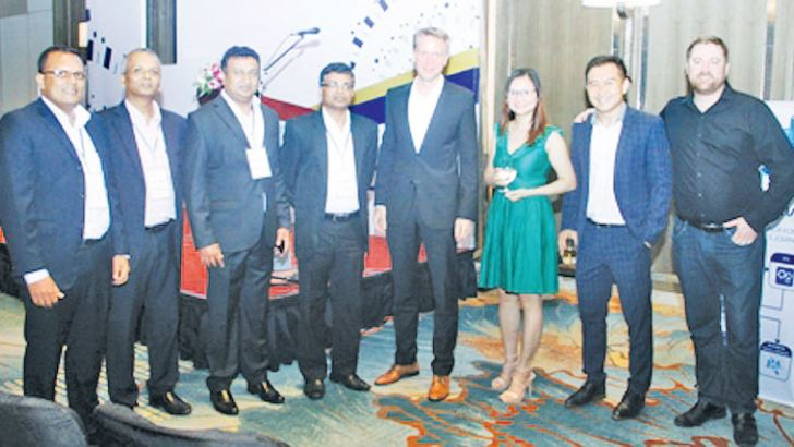Altria Consulting Board of Directors Kamal Weeraarachchi, Priyanka Samarakoon, Manjula Dias, Rohitha Wijewardena with Guest Speaker Dr. Rainer Deutschmann Group COO, Dialog Axiata PLC, and Tableau team Holly Le, Chee Pin Chua & Andrew Hill. Picture by Chaminda Niroshana