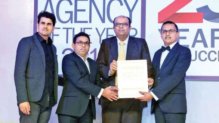 Lalith Sumanasiri, Managing Director of Ogilvy Media and Neo@Ogilvy and Amitha Amarasinghe, Chief Operating Officer, Neo@Ogilvy accepting the awards at the event held in Mumbai, India