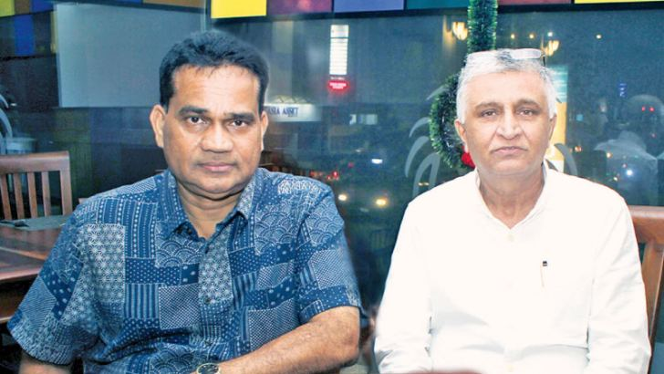 Nabil Imanudeen and Deeepal Nelson. Pictures by Saliya Rupasinghe
