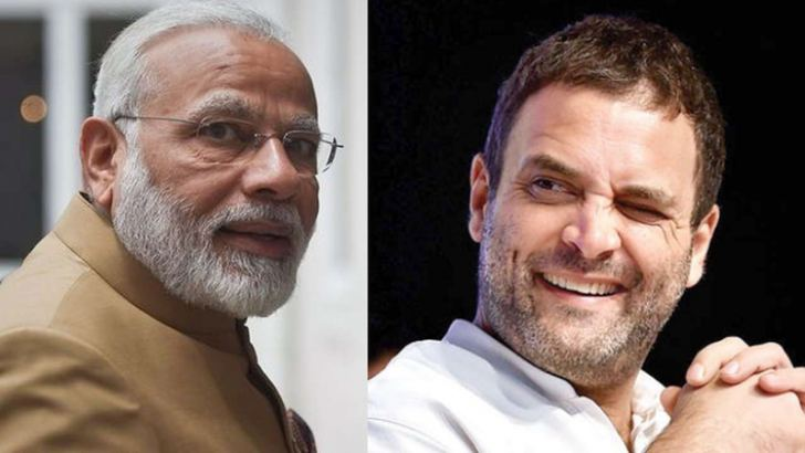 Indian Prime Minister Narendra Modi and Congress Party President Rahul Gandhi.