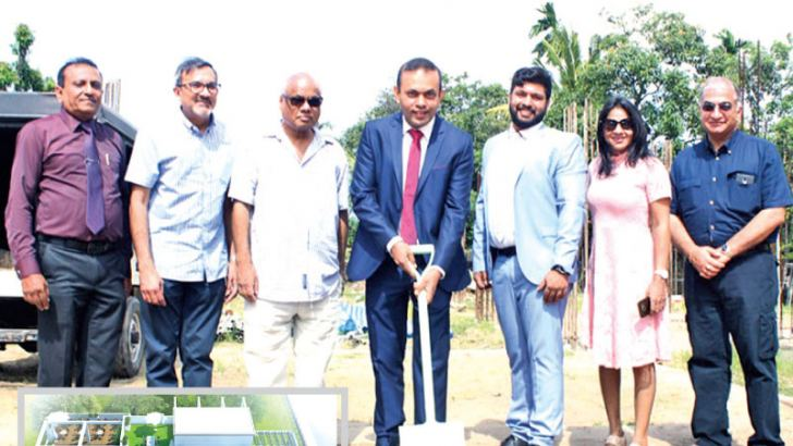 NLH Holdings Limited Chairman, Duminda Mayadunna and other invitees at the ground breaking