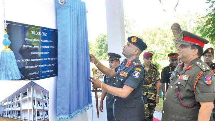 Army Commander Lt. Gen. Mahesh Senanayake opened the new three-storied academic complex, 'Academic Nexus' and a new residential block yesterday.