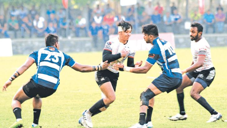 Action at the CH - Navy match. Picture by Wasitha Patabendige