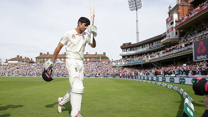 Cook went on to miss just one appearance for England in an astonishing 162-match sequence.