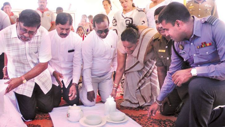 Hambantota District Secretary Bandula Harischandra and others invoke merits to the tsunami victims.