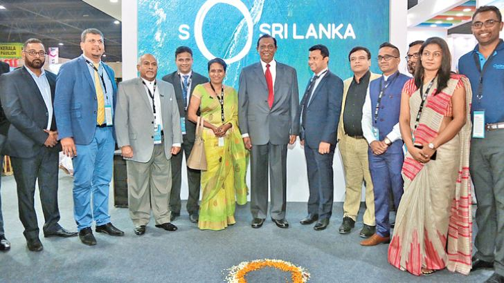 Minister at the inauguration of Indian International Travel and Tourism fair