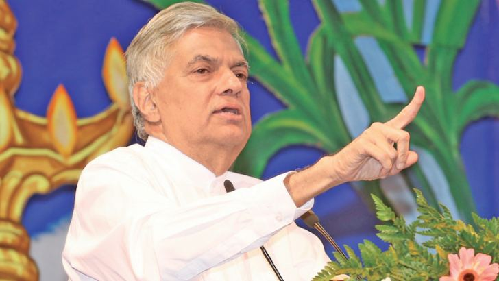 Prime Minister Ranil Wickremesinghe speaks at the Thai Pongal celebrations at Temple Trees on Sunday. Picture courtesy Prime Minister's Media