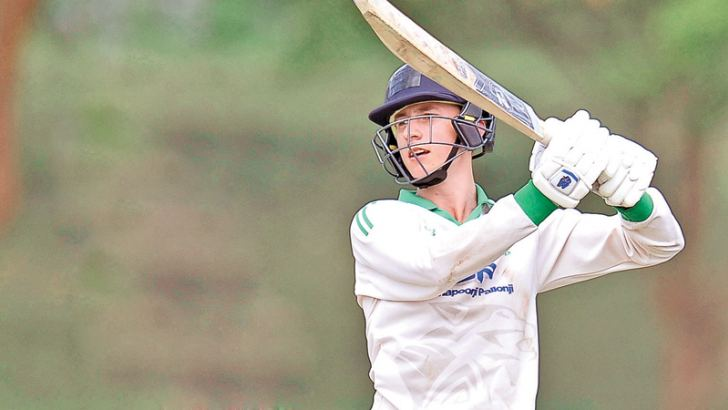 Neil Rock who top scored for Ireland A with a solid 85 drives for runs on the second day of the second unofficial test at Hambantota yesterday.