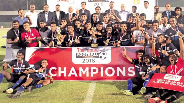"""ThePapare Under 20 All Island Football tournament 2018"" champions St. Joseph's College"