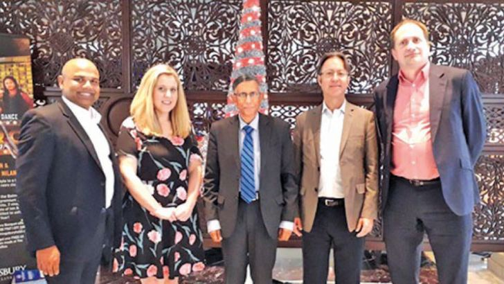 Dr Luckmika Perera Director Pathways and Partnerships/Director-Deakin Centre for Integrated Reporting, Tori Ellenberger International Manager Faculty of Business and Law, Prof Lakshman R Watawala President CMA Sri Lanka,  Prof Peter Carey Prof of Accounting and Head Department of Accounting Deakin University, Prof Alex Newman Prof of Management Department of Management and Associate Dean (International) Faculty of Business and Law  Deakin University.