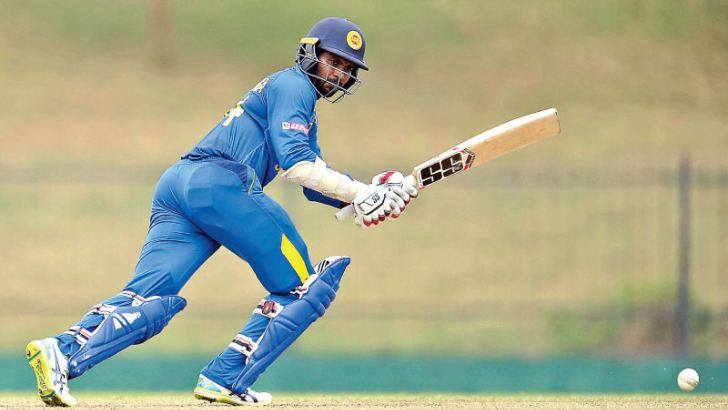 Sri Lanka A skipper Upul Tharanga gets runs on the leg side during his innings of 103 in the second unofficial ODI against Ireland A at the Mahinda Rajapaksa Stadium, Hambantota yesterday.
