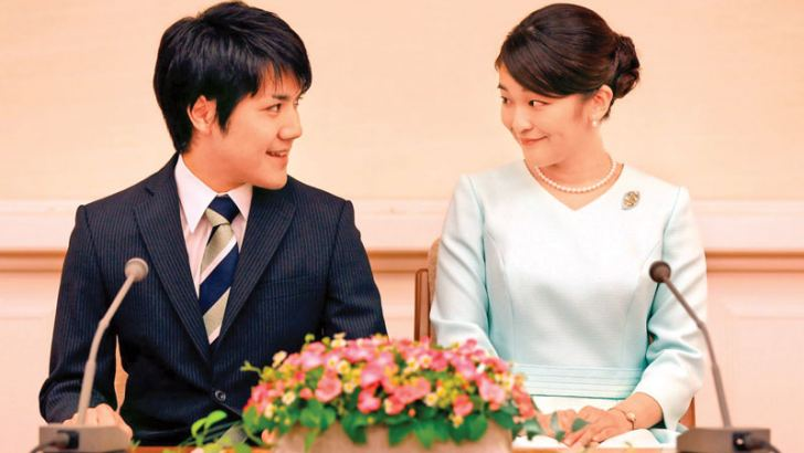 Princess Mako and her fiancee Kei Komuro
