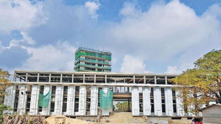 On going development at the Jaffna Cultural Centre.  Picture by Saliya Ruapsinghe