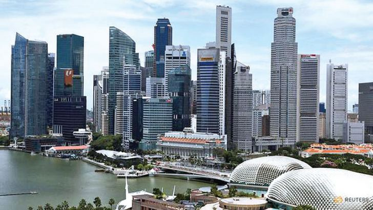 A view of the skyline in Singapore.