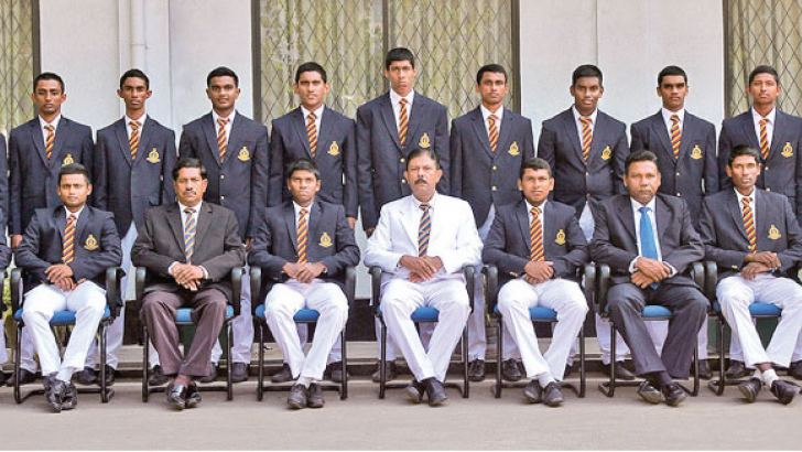 Thurstan College cricket team with officials
