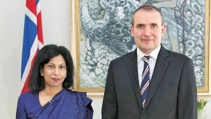 Ambassador of Sri Lanka to Iceland, Prof. Arusha Cooray with President Gudni Thorlacius Johannesson of Iceland.