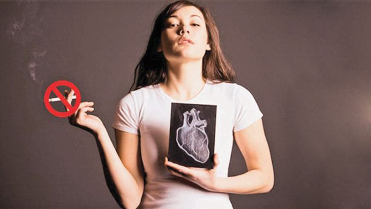 Young female smokers are more susceptible to cardiovascular heart diseases
