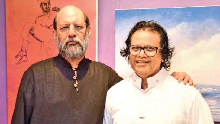 World-renowned Pakistani artist and social worker Jimmy Engineer and Sri Lankan abstract narrative expressionist, Maueen Saheed