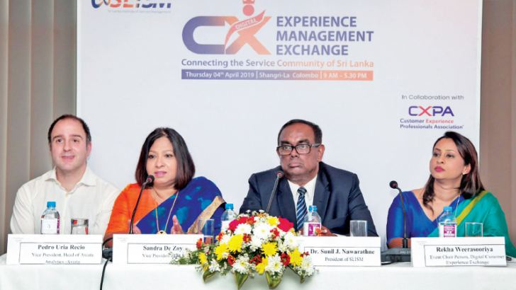Pedro Uria Recio - VP, Head of Axiata Analytics - Axiata, Sandra De Zoysa - VP of SLISM, Dr. Sunil Nwarathna - President of SLISM & Rekha Weerasooriya - Event Chair of Digital Customer Experience Management Exchange