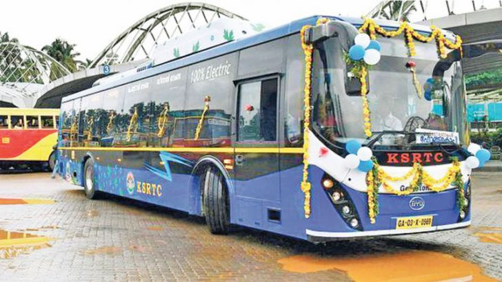 A State-run electric bus in Kochi | Photo Credit: Thulasi Kakkat