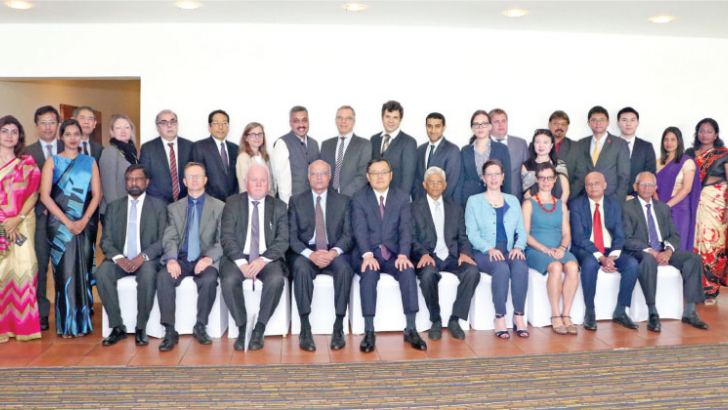 Representatives of IAG, with Ambassadors of Japan, Norway and the US, senior diplomats from Australia, China, France, India, Russia, and the Pathfinder team