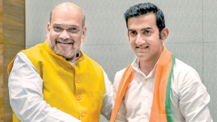 Former international cricketer Gautam Gambhir (right) on Friday joined the BJP and is expected to be fielded in the Lok Sabha polls from one of the seats in the national capital.